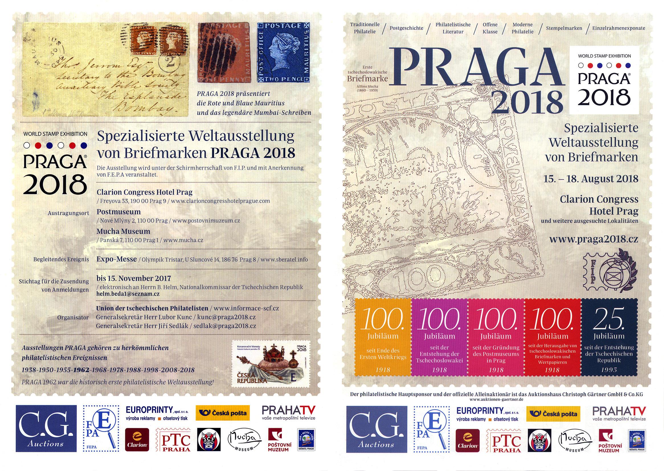 Ausfahrt zur Briefmarkenausstellung PRAGA 2018 @ Clarion Congress Hotel Prag | Hlavní město Praha | Tschechien